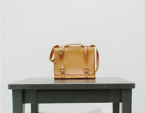 Leather Messenger Bag- Made in USA- Cicada Leather Company_0